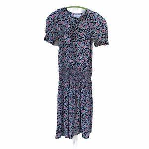 Vintage Maggy London 80's Floral Cottagecore Dress